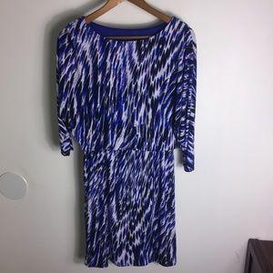 Nine West Royal Blue White and Black Dress